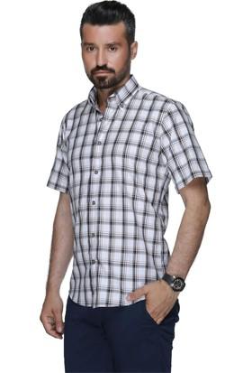 Buenza Sry 3070 Kısa Kol Dugmeli Yaka Gömlek - Kahverengi