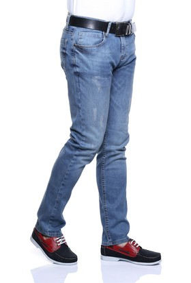 Buenza Dsp 999 Taslama Kot Pantolon - Mavi