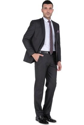 Buenza Tivoli Mono Tk Yrt Klasik Kesim Takım Elbise-Kahverengi