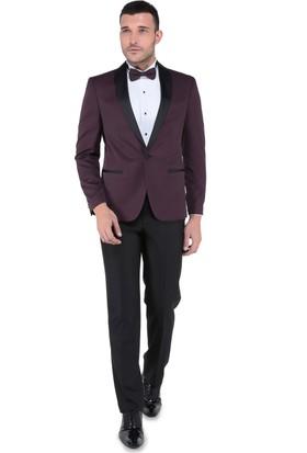 Buenza Vega Şal Yaka Smokin Set Takım Elbise-Bordo