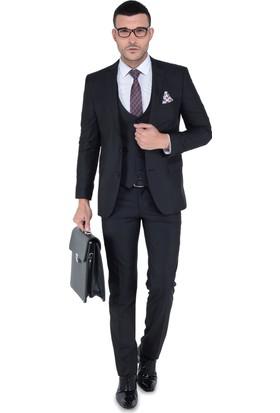 Buenza Mono Yelekli Takım Elbise Siyah