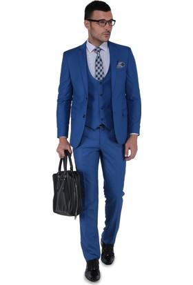 Buenza Mono Yelekli Takım Elbise Açık Mavi
