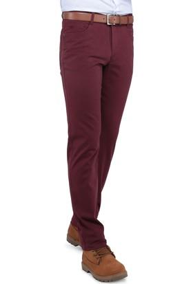 Buenza Casablanka 5 Cep Slim Fit Pantolon - Bordo