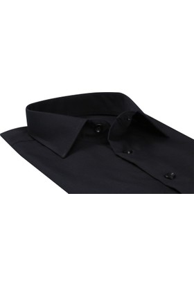Buenza Coton Uzun Kol Gomlek Siyah