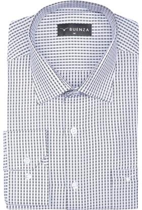 Buenza Soft Ekose 75 Uzun Kol Klasik Gömlek - Siyah