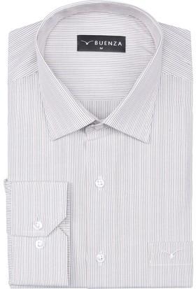 Buenza Sry 2976 Uzun Kol Klasik Gömlek Bej