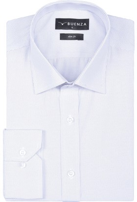 Buenza Sry 1799 Uzun Kol Slim Fit Gömlek-Siyah