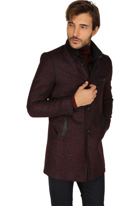 Buenza Drcn 505 Slim Fit Hakim Yaka Kaban - Bordo
