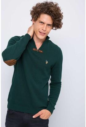 U.S. Polo Assn. Erkek Kazak Yeşil