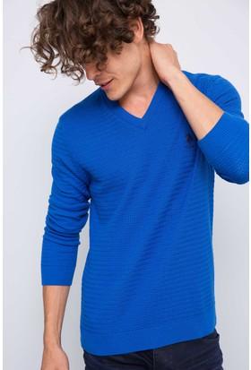 U.S. Polo Assn. Erkek Kazak Mavi