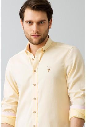 U.S. Polo Assn. Erkek Gömlek Sarı