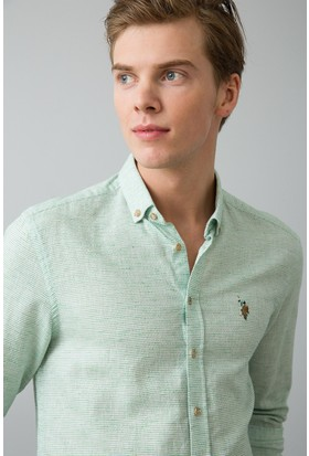 U.S. Polo Assn. Erkek Gömlek Yeşil