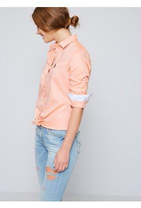 U.S. Polo Assn. Kadın Gömlek Kırmızı