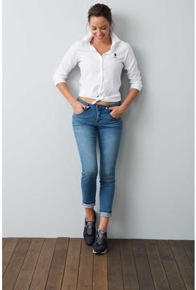 U.S. Polo Assn. Kadın Pantolon Mavi