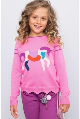 U.S. Polo Assn. Kız Çocuk Kazak Pembe