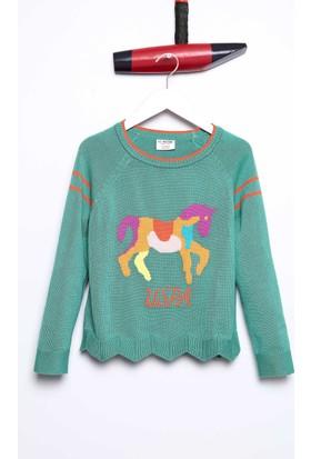 U.S. Polo Assn. Kız Çocuk Kazak Yeşil