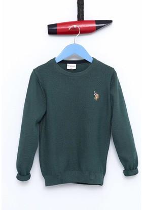U.S. Polo Assn. Erkek Çocuk Kazak Yeşil