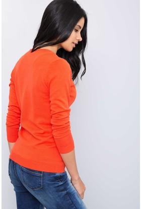 U.S. Polo Assn. Kadın Hırka Kırmızı