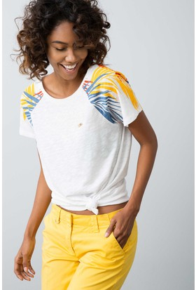 U.S. Polo Assn. Kadın T-Shirt Beyaz