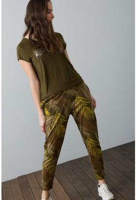 U.S. Polo Assn. Kadın Pantolon Yeşil
