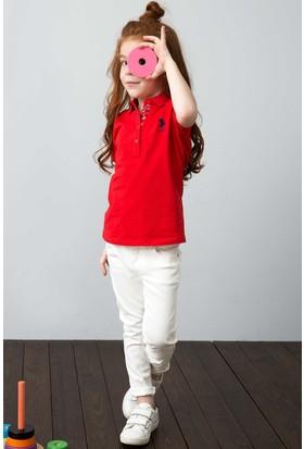 U.S. Polo Assn. Kız Çocuk T-Shirt Kırmızı