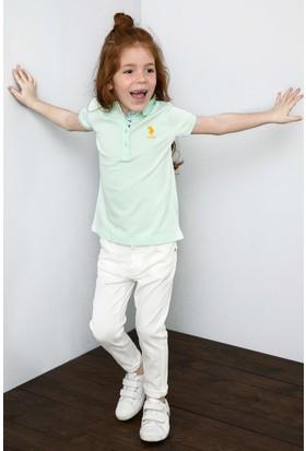 U.S. Polo Assn. Kız Çocuk T-Shirt Yeşil