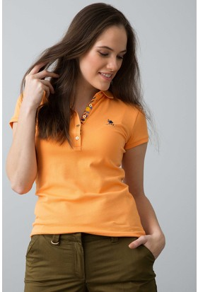 U.S. Polo Assn. Kadın T-Shirt Turuncu