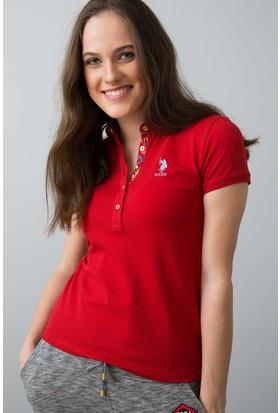 U.S. Polo Assn. Kadın T-Shirt Kırmızı