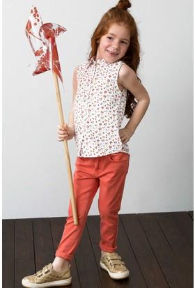 U.S. Polo Assn. Kız Çocuk Gömlek Beyaz