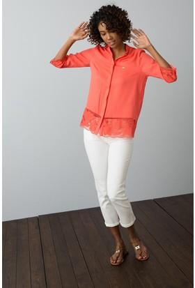 U.S. Polo Assn. Kadın Gömlek Pembe