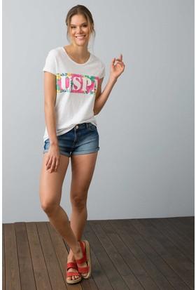 U.S. Polo Assn. Kadın T-Shirt Yeşil