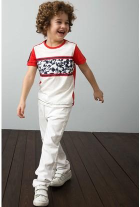 U.S. Polo Assn. Erkek Çocuk Pantolon Beyaz