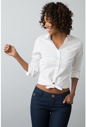 U.S. Polo Assn. Kadın Gömlek Beyaz