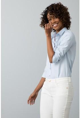 U.S. Polo Assn. Kadın Gömlek Mavi