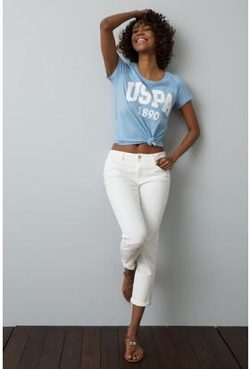 U.S. Polo Assn. Kadın T-Shirt Mavi
