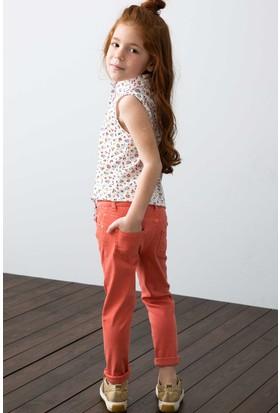 U.S. Polo Assn. Kız Çocuk Pantolon Kırmızı