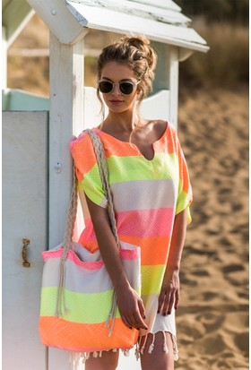 Begonville Tunik Bambu Waves Neon