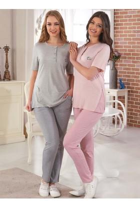 Rozalinda 1752 Kısa Kol Kadın Pijama Takımı