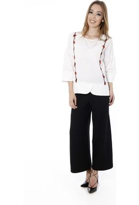 Soie Design Arkası Dekolteli Kadın Pantolon