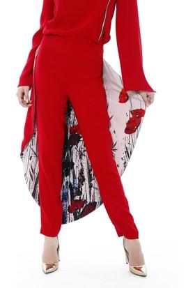 Soie Design Arkası Pelerinli Tablo Baskılı Kadın Pantolon