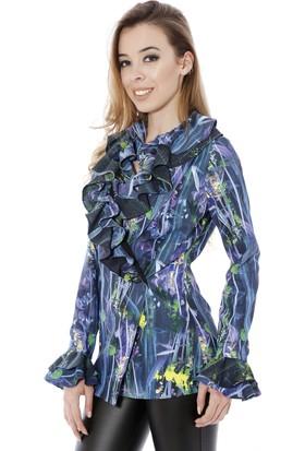 Soie Design Fırfırlı Kadın Ceket