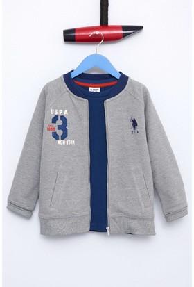 U.S. Polo Assn. Erkek Çocuk Sweat Shirt Gri