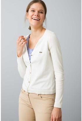U.S. Polo Assn. Kadın Hırka Beyaz