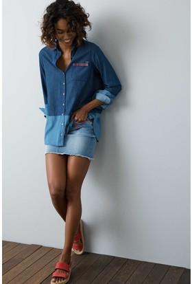 U.S. Polo Assn. Kadın Etek Mavi
