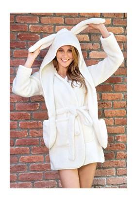 Anıl 2'li Tavşan Şapkalı Polar Sabahlık Takım AN5454