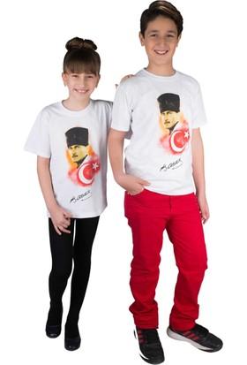 Modakids Atatürk Bayrak Baskılı Tshirt 019-1931-027