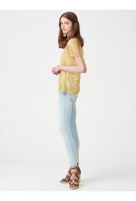 Xint Yuvarlak Yaka Geniş Form Bluz