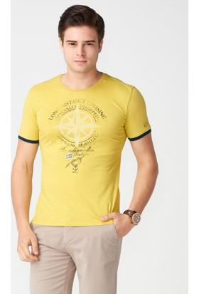 Mcl Bisiklet Yaka Baskılı Tshirt