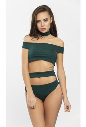 Nur Karaata Atiello Bikini Koyu Yeşil