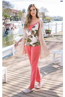 Yeni İnci BPJ1244 İp Askılı Viskon Yelekli Kadın Pijama Takımı